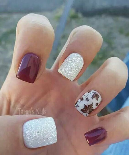 Easy Nail Art, Nail Fall Nails Designs - 20 Fall Nail Designs