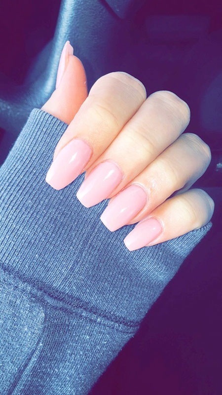 Light Pink Medium Acrylic Nails, Nails Acrylic Nail Coffin