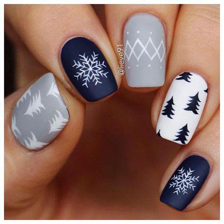 Christmas Winter Nails, Nail Nails Christmas Nailart