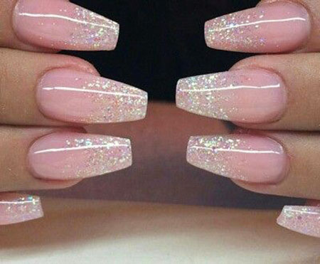 Nails Glitter Nail Ombre