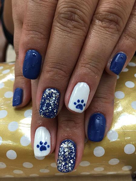 Nail Nails Fall Blue