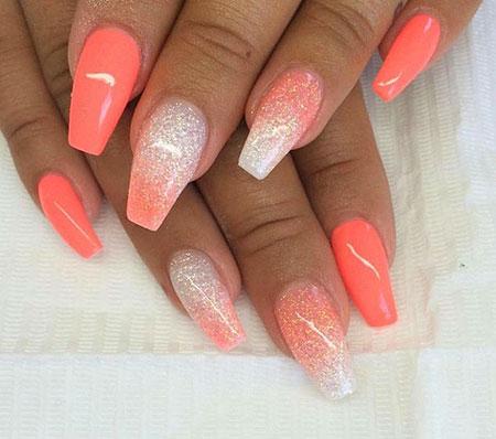 30 coral nail designs