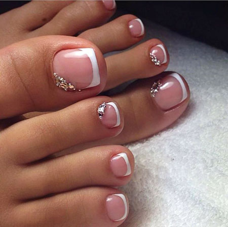 French Tip Toe Nail Design, Nail Toe But Fall