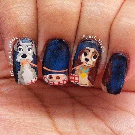 Lovely Dog Nail Design, Nail Disney Halloween Nails