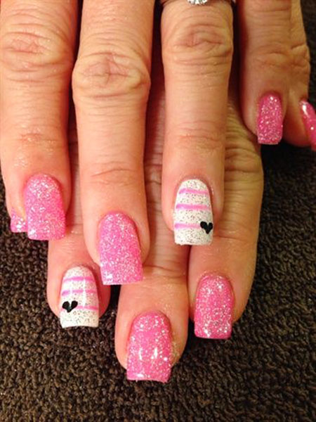 Simple Pink Nail Idea, Nail Nails Pink Manicure