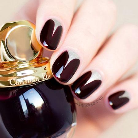 Classy Dark Nail Colors, Polish Nail Trendy Elegant