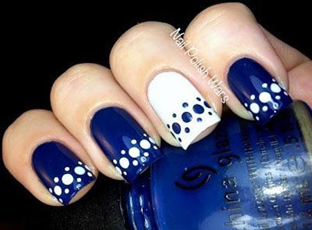 Polka Dots Nails, Dots Nail White Polka