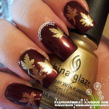 Dark Brown Nail, Nail Fall Black Thanksgiving