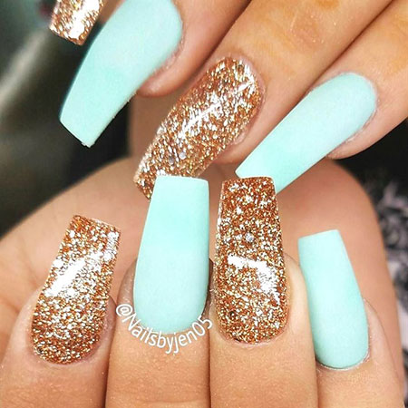 Glittered Nail Art, Nails Nail Gold Gel