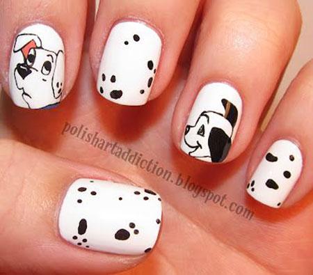 Disney Dog Nail Art Design, Nail Nails Disney Art