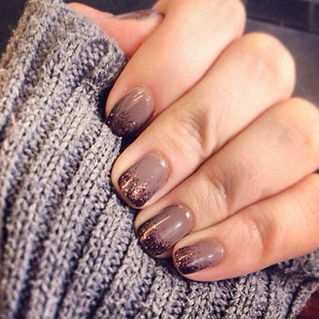 Simple Short Fall Nails, Nails Gel Fall Manicure