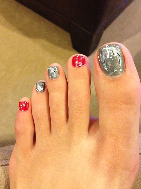 Toe Nail Christmas Designs