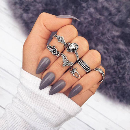 Nail Nails Stiletto Rings