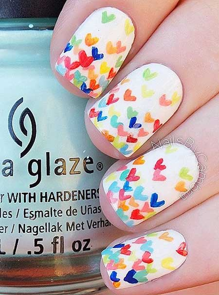 White Base Nail Art
