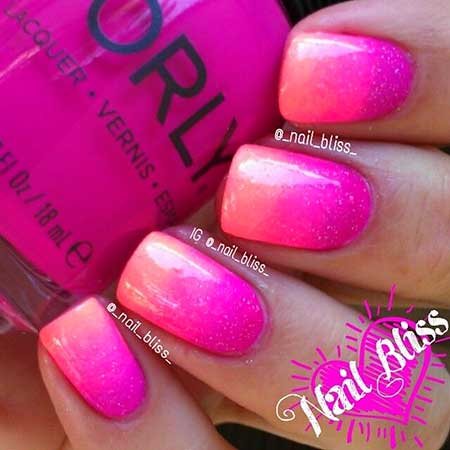 Bright Ombre Nails