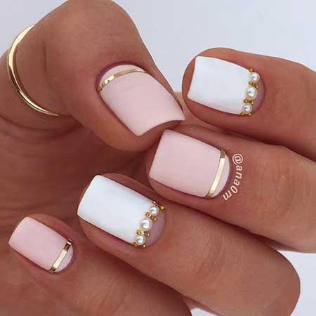 Gold Bridal Nail Designs - 12