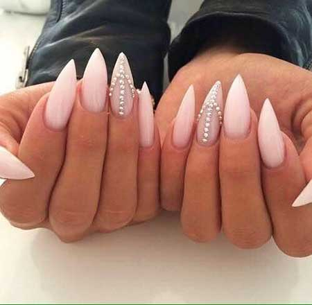Light Pink Stiletto Nails