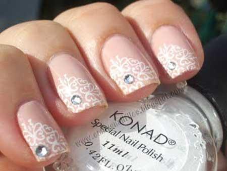 Pink Wedding Nail Art Ideas 2017 - 13