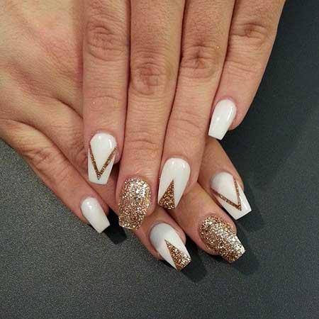 Gold Bridal Nail Designs - 14