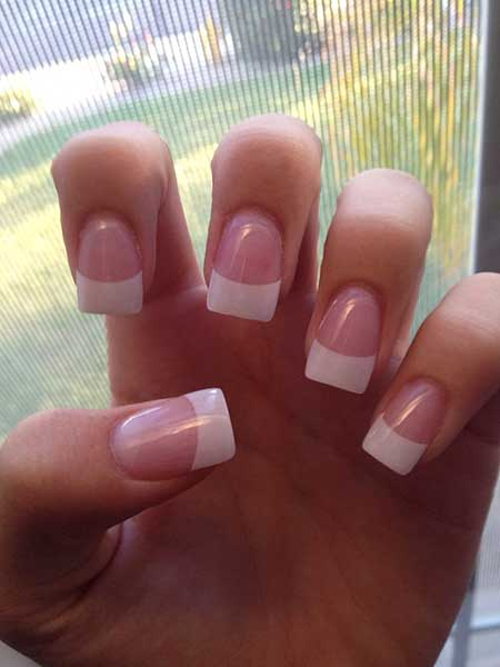 French Tip Acrylic Nails