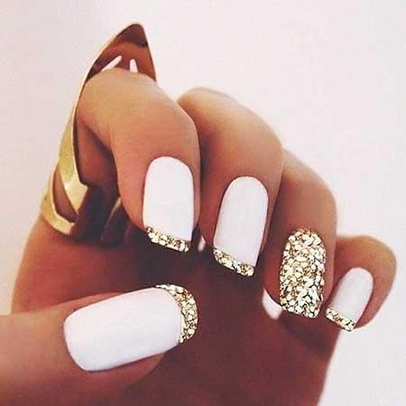 Gold Bridal Nail Designs - 16