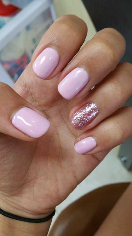 Light Pink Nail Designs 2017 - 16