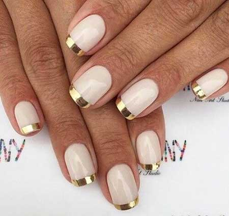 Gold Bridal Nail Designs 2017 - 17