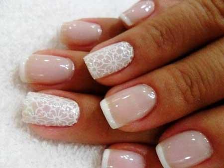 Pink Wedding Nail Art Ideas 2017 - 17