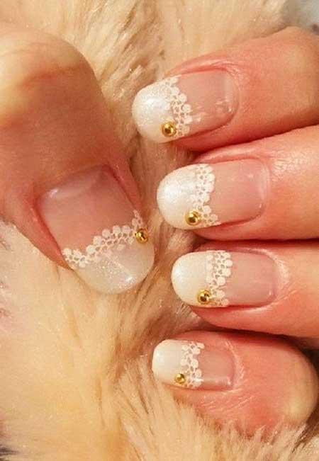 Gold Bridal Nail Designs - 18