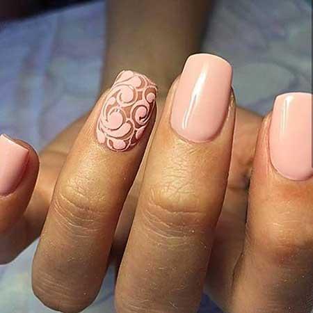 Pink Wedding Nail Art Ideas 2017 - 19