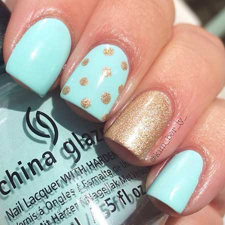 Easy Blue Nail Designs