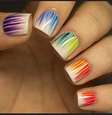Fun Rainbow Nail Art