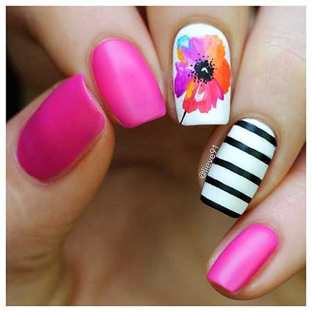 Spring Pink Nail Designs
