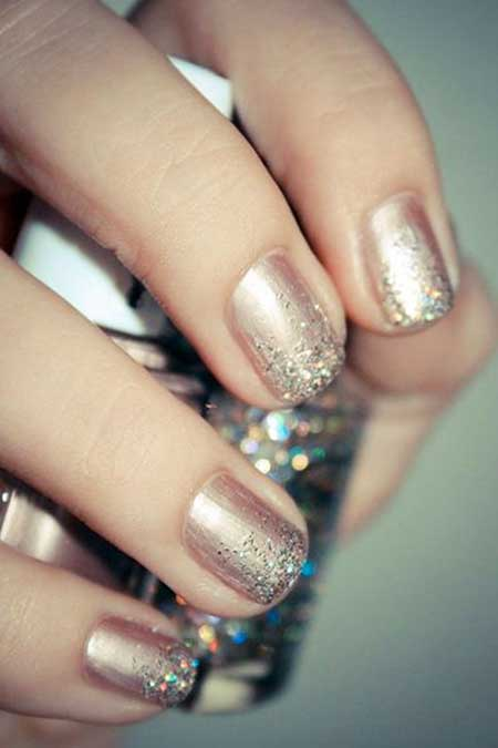 Gold Bridal Nail Designs - 22