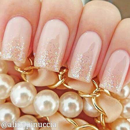 Gold Bridal Nail Designs - 23