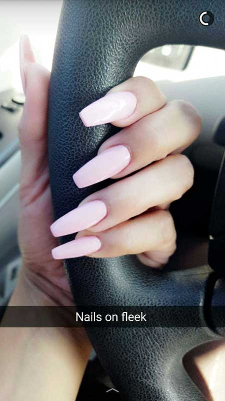 Light Pink Nail Designs 2017 - 25