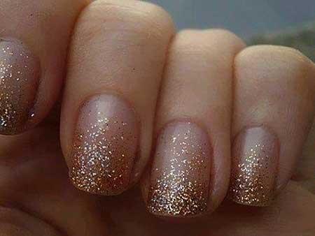 Gold Bridal Nail Designs