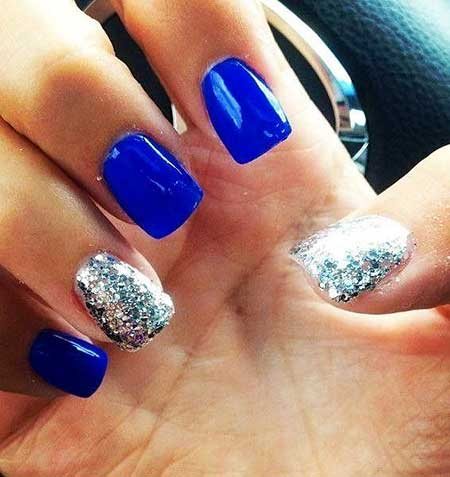Summer Nail Designs Blue And Silver