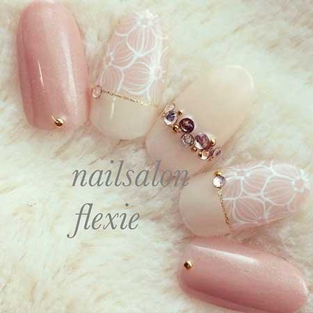 Pink Wedding Nail Art Ideas 2017