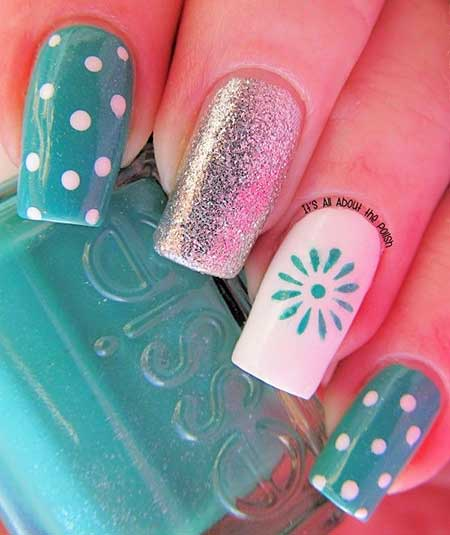 Spring Light Blue Nail Designs