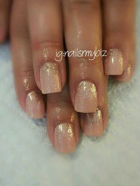 Nude Shellac with Glitter