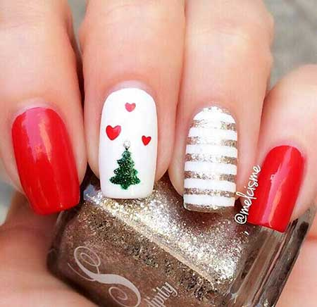 Cute And Easy Christmas Nails