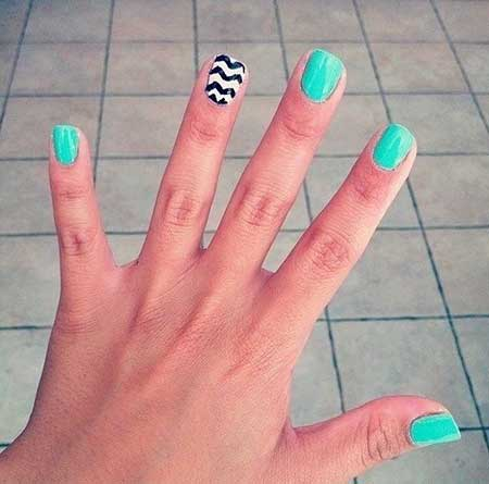 One Finger Nail Designs
