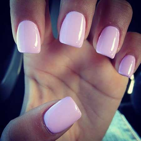 Light Pink Square Acrylic Nails Designs 2017
