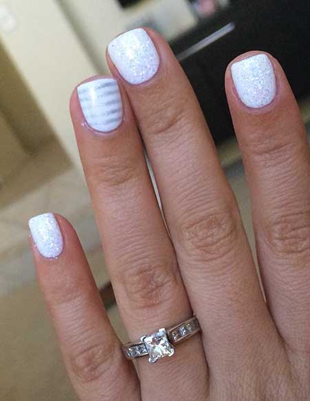 Nails To Show Off Engagement Ring