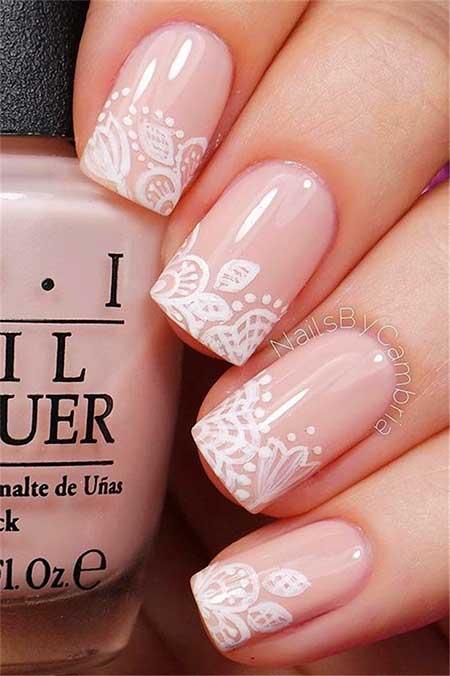Pink Gorgeous Wedding Nail Art Ideas - 6