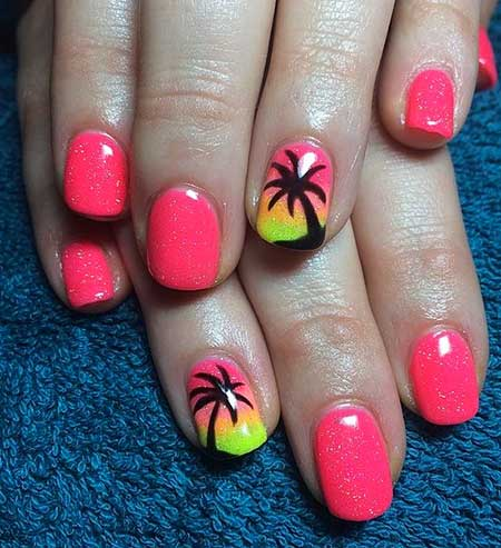 Palm Tree Nail Designs