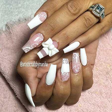 Pink Wedding Nail Art Ideas - 7