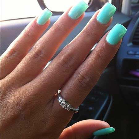 Tiffany Blue Nail Polish Designs 2017