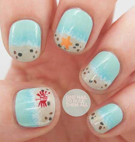Nail, Art, Polka Dots, Dots, Heart Nail, Dot Nail, Dot, Beach, Polka, Heart,
